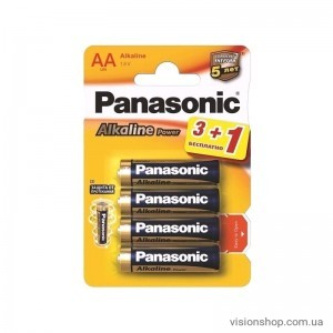 Батарейка Panasonic Alkaline Power AAA BLI 4шт (LR03REB/4B1F)